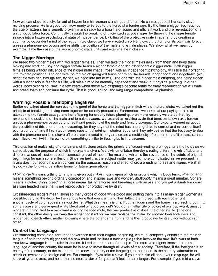 the willie lynch letter Page 1 of 4 the willie lynch letter: the making of a slave this speech was  delivered by willie lynch on the bank of the james river in the colony of virginia .
