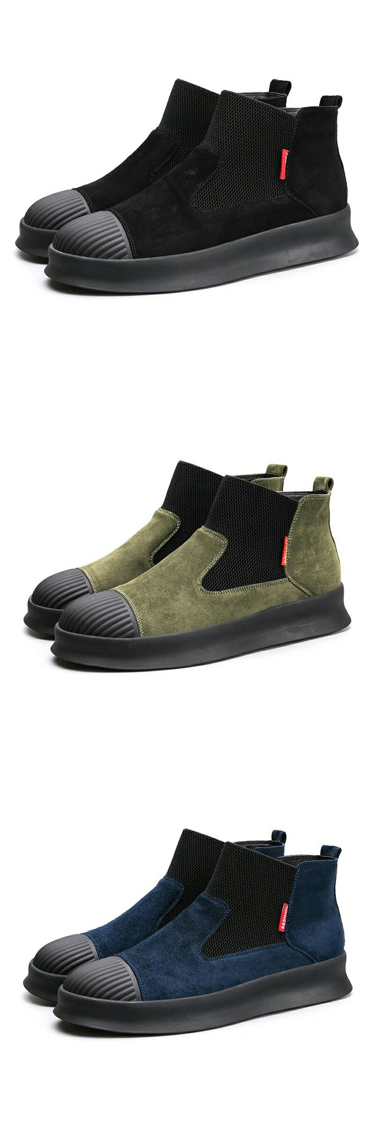 < Click to buy > Prelesty Brand High Quality Vintage Men Winter Warm High Top Men's Casual Shoes Breathable Classic Sock Shoe Design