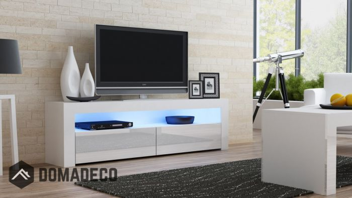 Milano 157 Classic White Gloss Tv Stand White Tv Stands White