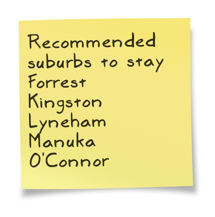 Recommended suburbs to stay