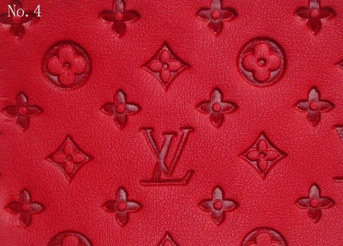 LV leather#4(red)---Louis Vuitton fabric,Gucci fabric, Fabric, Vinyl, Burberry fabric-www.urbansell.com