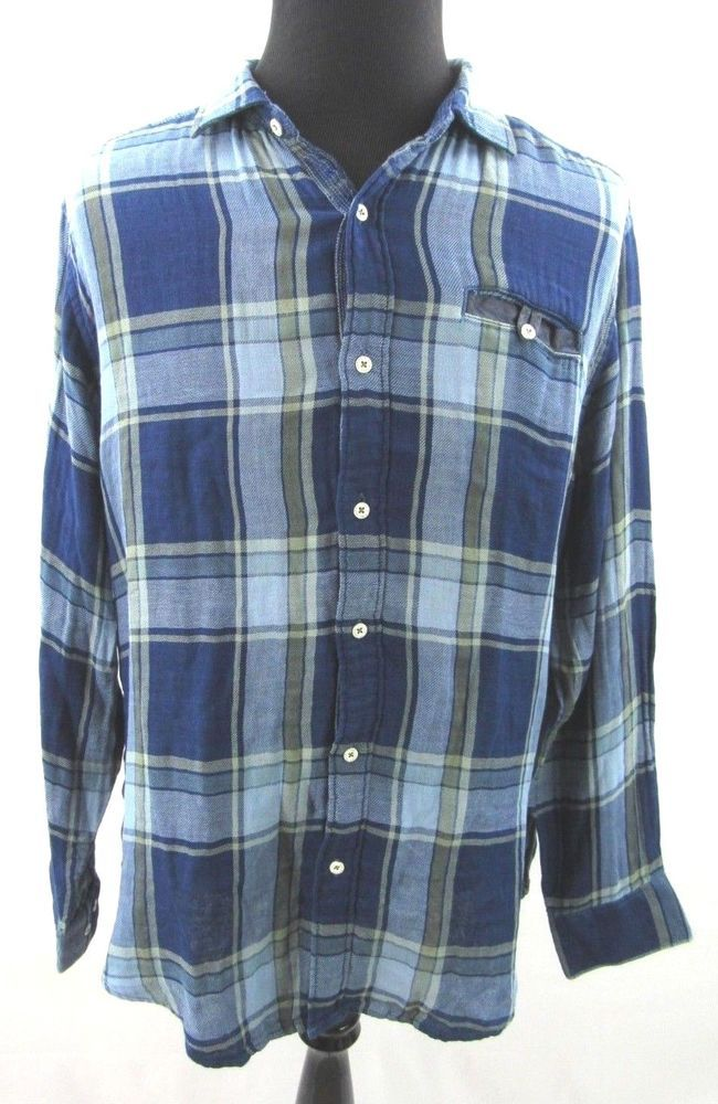 93861b06 NEW Tommy Bahama Jeans Blue Plaid Soft Cotton Long Sleeve Casual Shirt XL  NWT #fashion #clothing #shoes #accessories #mensclothing #shirts (ebay link)