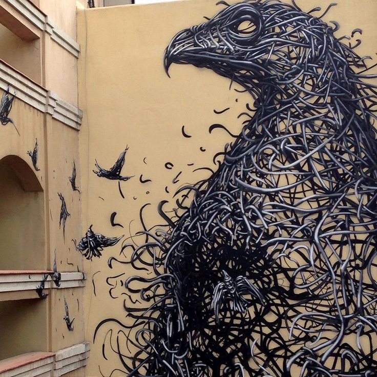 URBAN ART - Chinese born artist DALeast stopped recently in Malaga, Spain, to leave his mark for the Malaga Maus project.