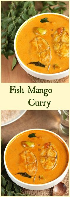 Kerala style fish mango (meen manga curry) curry.Fish cooked in a coconut milk based gravy with mangoes,this mild spicy South Indian curry goes well with steamed rice