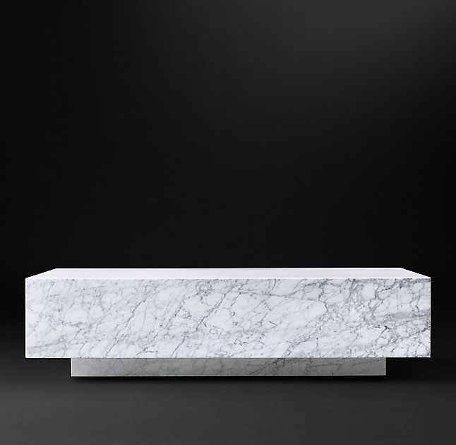 RHu0027s Marble Plinth Coffee Table:Both American And Italian Designs Of The  1970s Informed Our