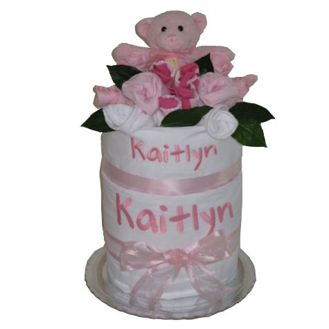 Personalised cot sheet nappy cake