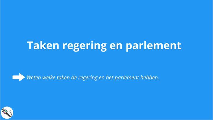 Politiek en Beleid: Taken en Rechten van regering & parlement