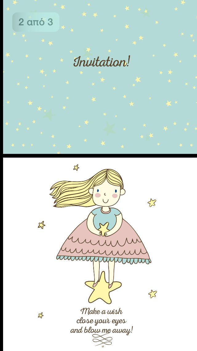Little star.Invitation card