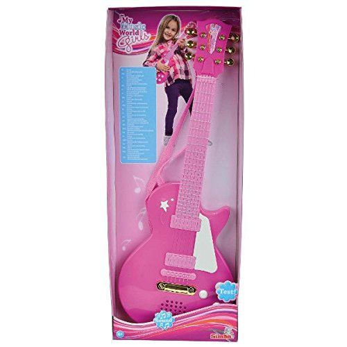 Simba My Music World Girls Rock Guitar, Multi Color Simba http://www.amazon.in/dp/B00HQXG3GO/ref=cm_sw_r_pi_dp_kPvDwb09YC8BK #SimbaToys #toys #kids #toddlers #Infants #colorful #playtime #Music #pink #amazonindia