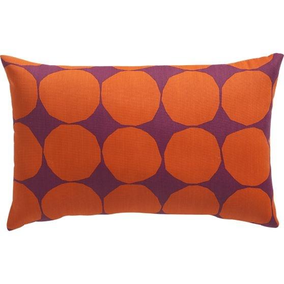 "Marimekko Pienet Kivet Caliente 20""x13"" Outdoor Pillow in Decorative Pillows | Crate and Barrel"
