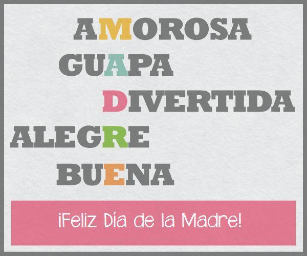 Letra Mama-Celebra con estilo con las invitaciones y tarjetas virtuales de LaBelleCarte: www.LaBelleCarte.com