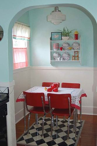 Vintage Breakfast Nook - I know of a home in Cleveland that had one of these!  Very Cool!                                                                                                                                                     More