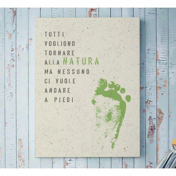 Amate la Natura e rispettate il nostro pianeta? Questo poster arrederà la vostra casa con una punta di ironia.