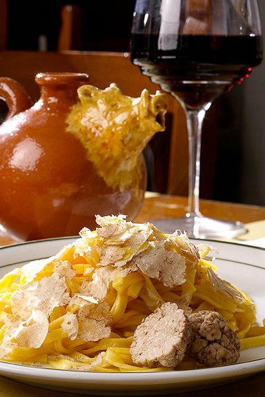 Tagliderini al Tartufo (Pasta with truffles) from The White Boar in Florence, Italy