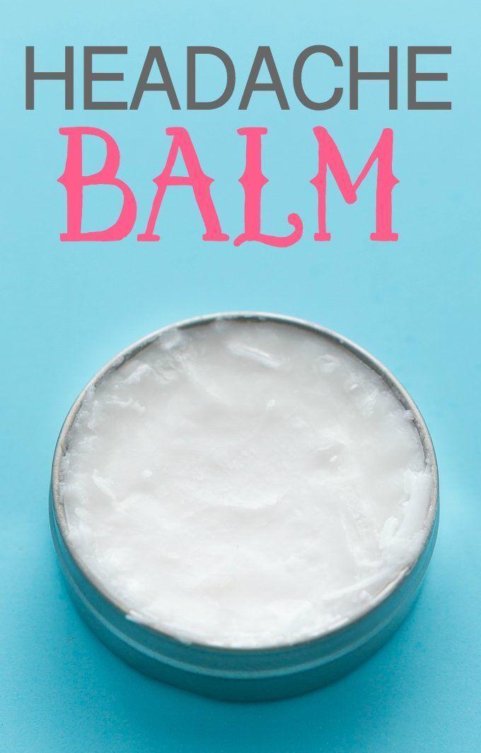Headache Balm - Help soothe a headache with this simple DIY made with coconut…