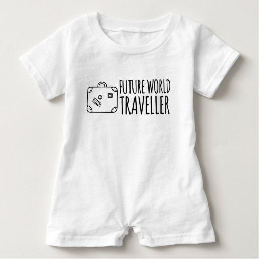 Romper futuro do viajante de mundo macacão para bebê
