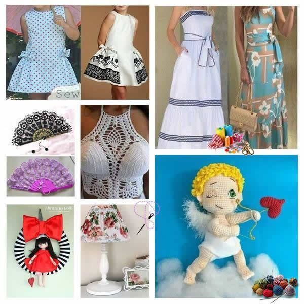 Padrões de costura artesanato e artesanato