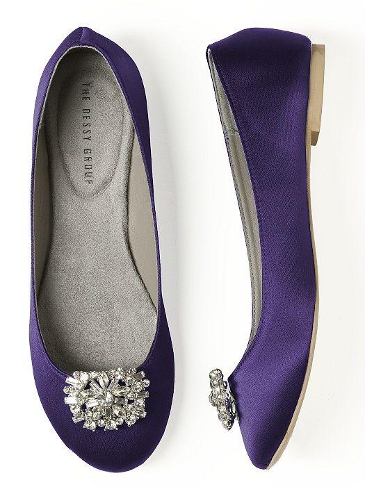 Purple Wedding Shoes Dessy Group