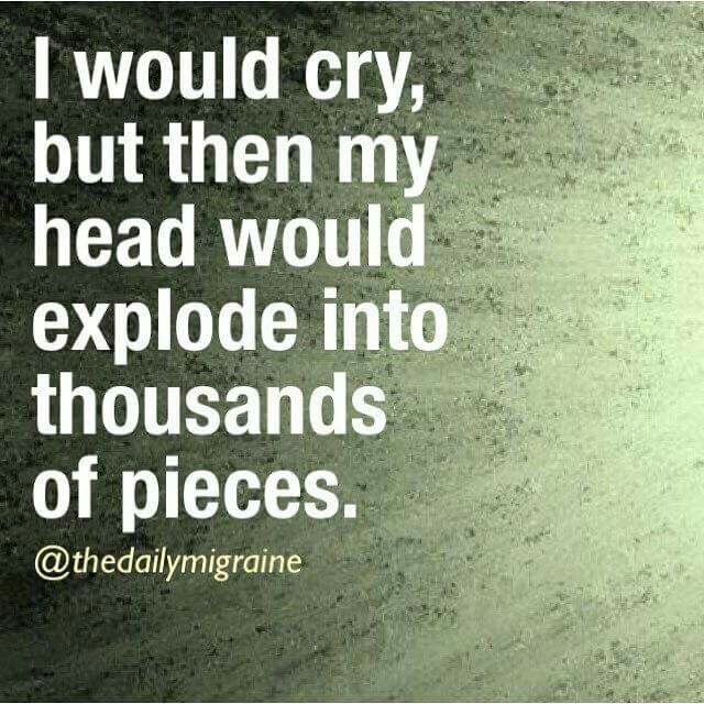 Wow this is me.. Crying gives me pain. Therefore, I try my damnest not to cry.
