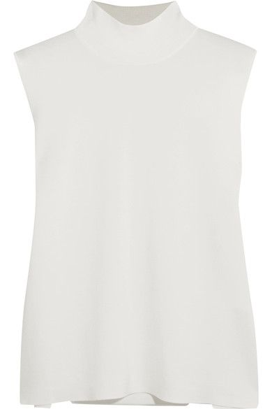 Dion Lee - Cutout Stretch-ponte Turtleneck Top - Ivory - UK8