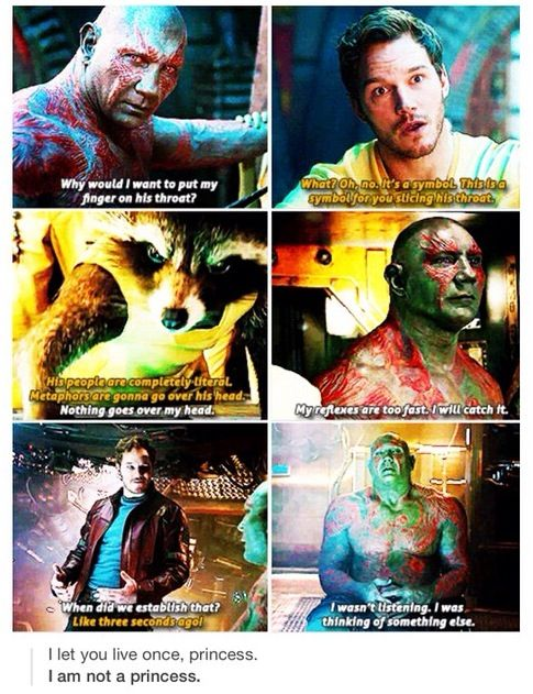 Drax is my favourite. I wonder if they're gonna stick to his comic book origins or make up something new.