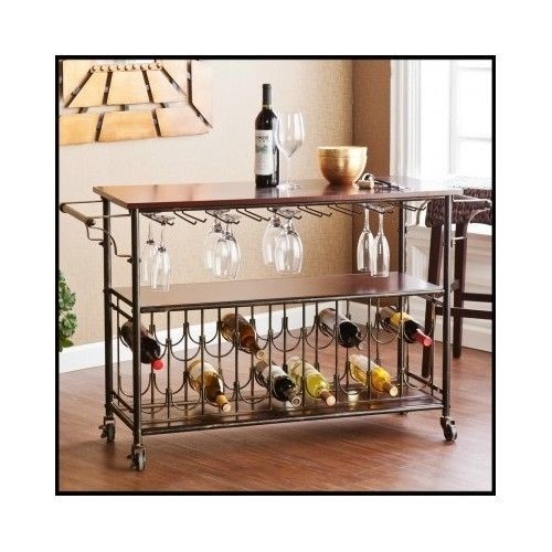 Wine-Serving-Cart-Rolling-Kitchen-Island-Trolley-Bar-Storage-Rack-Table-Bottle