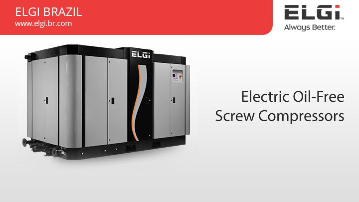 Electric Oil-Free Screw Compressors http://www.elgi.br.com/electric-oil-free-screw-compressors/ We offer Electric Oil-Free Screw Compressors with high quality worldwide.