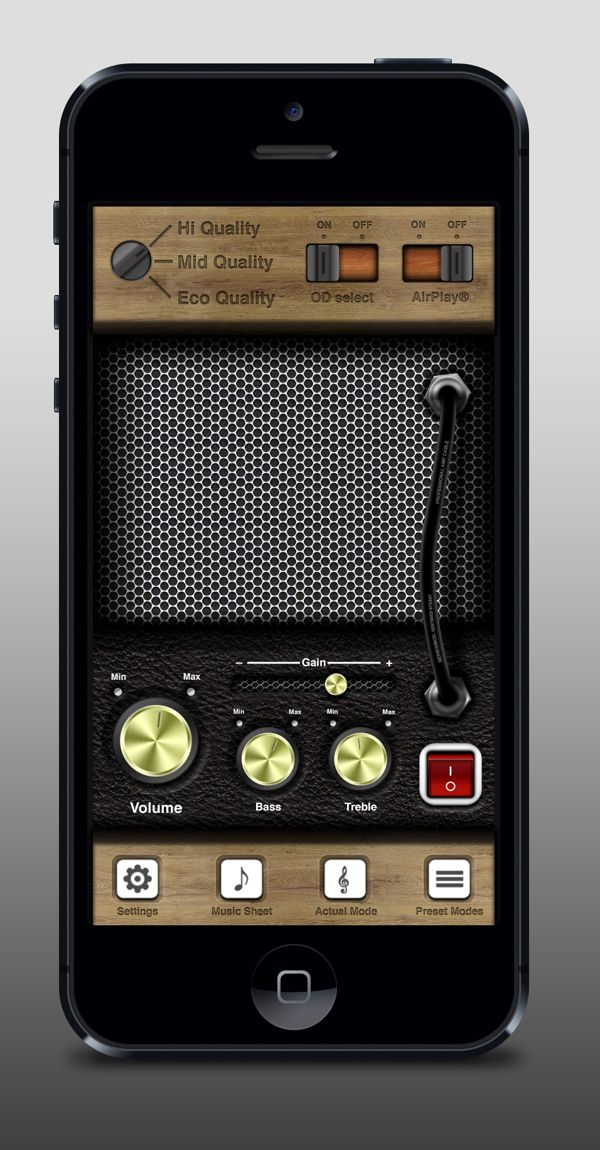 iPhone UI Case Study - Amplifier App | Designer: Tobia Crivellari