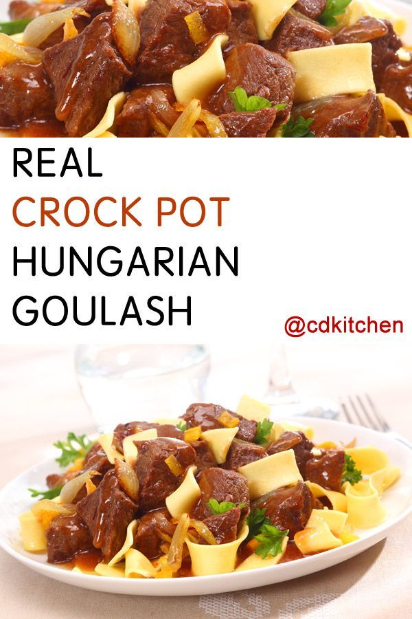 Real Slow Cooker Hungarian Goulash Recipe Garlic Stew And Cayenne Peppers