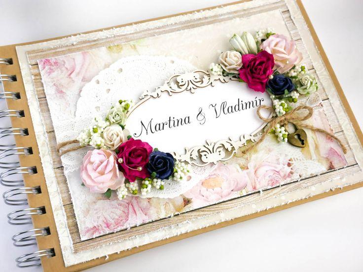 "Dianka Kreativity: Svatební kniha hostů ""My Wedding"", Wedding Book, Craft & You - My Wedding, shabby chic"