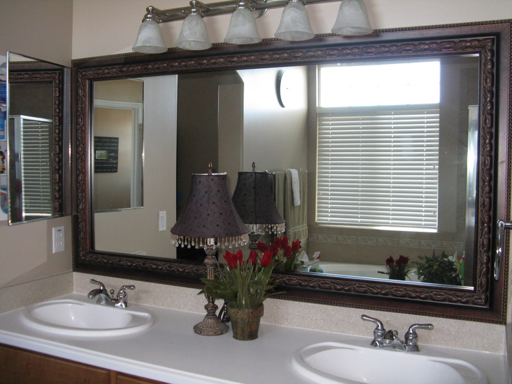 1000 images about great ideas on pinterest safe place - Mirror frame kits for bathroom mirrors ...
