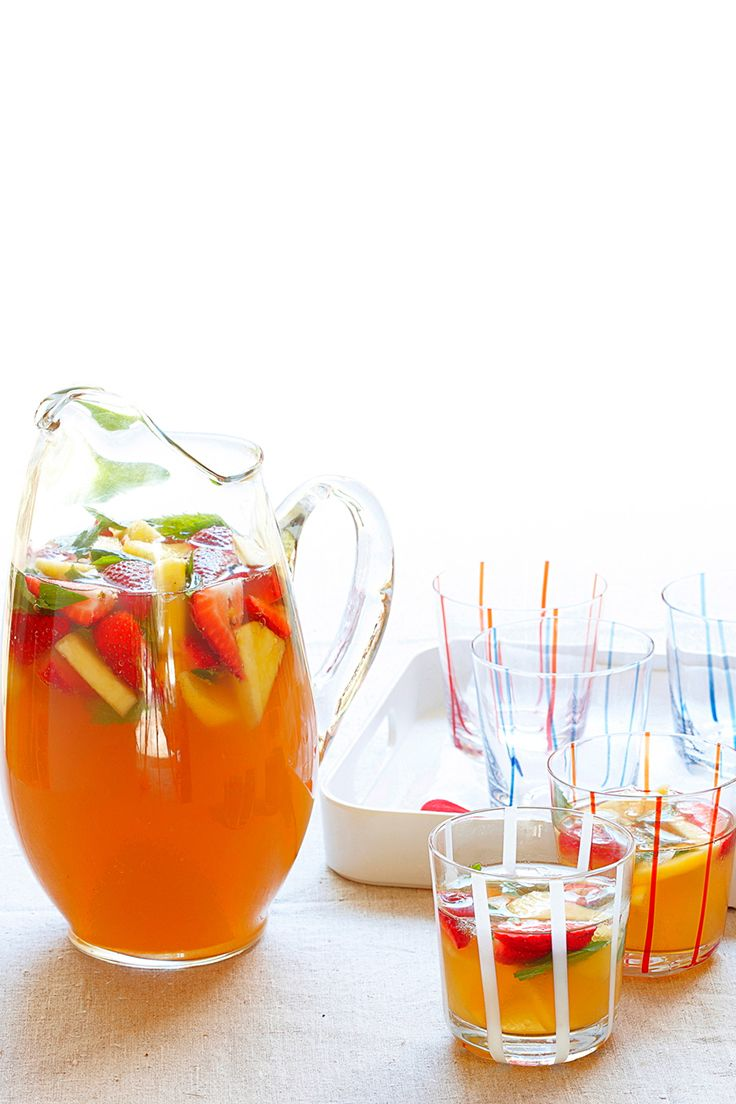 This non-alcoholic, family-friendly punch is a great addition to your backyard barbecues this summer.