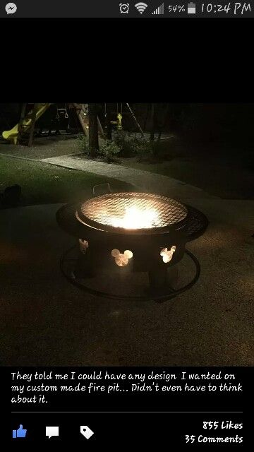 Mickey Fire Pit Custom Made Disney Home Outdoor Fire