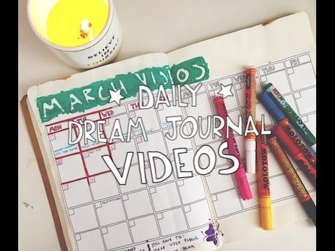 Creative Business Planning Journal: Daily Dream Journal Video March 14
