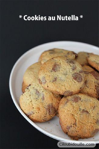Cookies fourrés au Nutella | Ciloubidouille