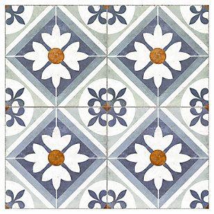 Cordillera Cerámica 45 x 45 cm Flower Blue 2.08 m2
