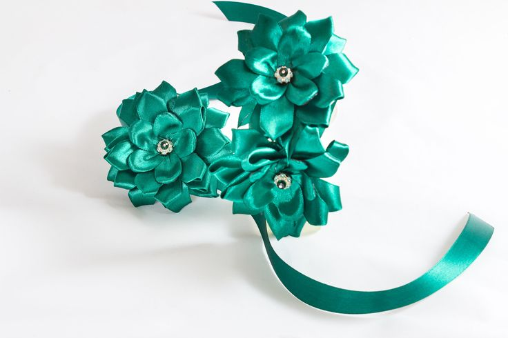 A personal favourite from my Etsy shop https://www.etsy.com/ie/listing/558285464/green-flowers-hairband-and-wrist-corsage