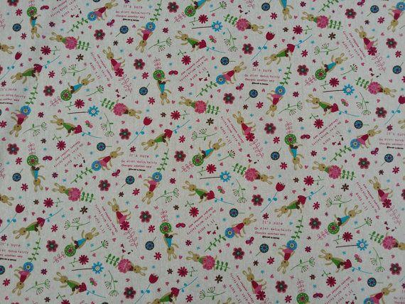 Kids curtains small teddies print cotton cute fabric vintage brown linen look nautical Cotton upholstery cushions fabrics Per Metre