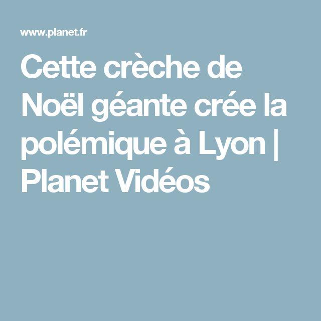 Cette crèche de Noël géante crée la polémique à Lyon   Planet Vidéos