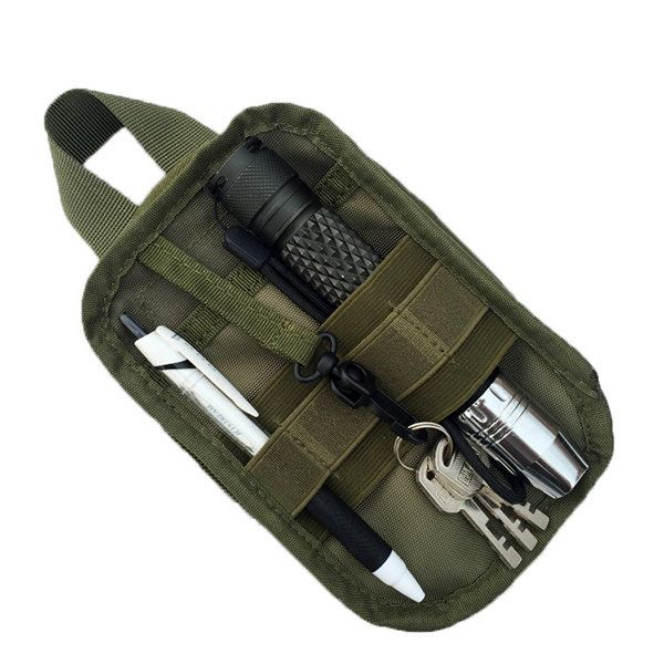 Men Military Molle EDC Pouch Mesh Tools Accessory Pouch Tactical Waist Bag - US$8.99