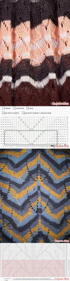 Wzory w stylu Missoni.  Knitting - Knitting - Country mama