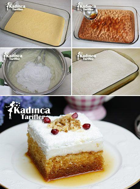 ŞERBETİ KARAMELLİ PASTA TARİFİ http://kadincatarifler.com/serbeti-karamelli-pasta-tarifi