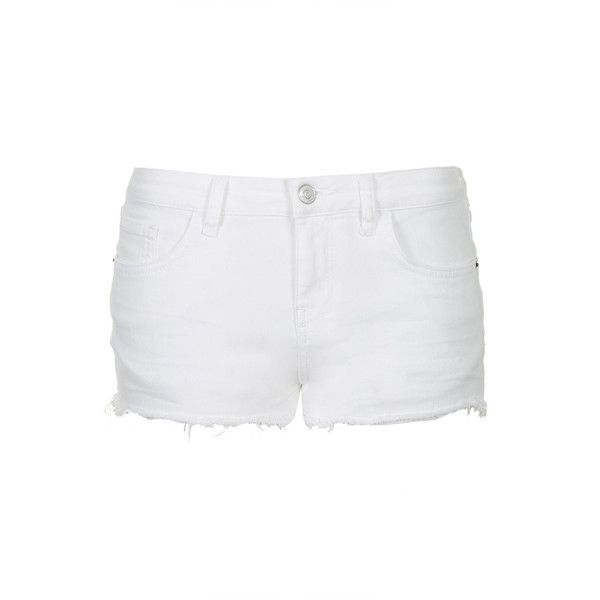 TOPSHOP MOTO White Daisy Shorts ($28) ❤ liked on Polyvore featuring shorts, bottoms, short, pants, white, cutoff shorts, daisy print shorts, white shorts, cut off shorts and low rise shorts
