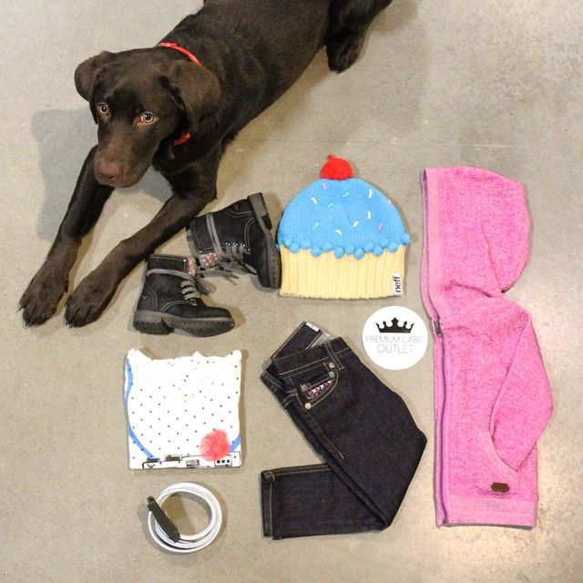 Everything a little girl needs. @roxy boots, denim, tee & hoody. Neff cupcake toque & Borel zebra belt! #puppies