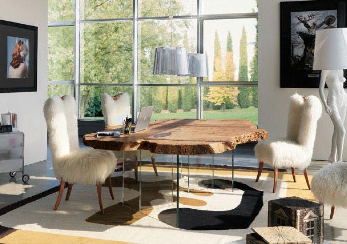 17 migliori idee su tavolo tronco su pinterest tavolo in for Tronco albero arredamento