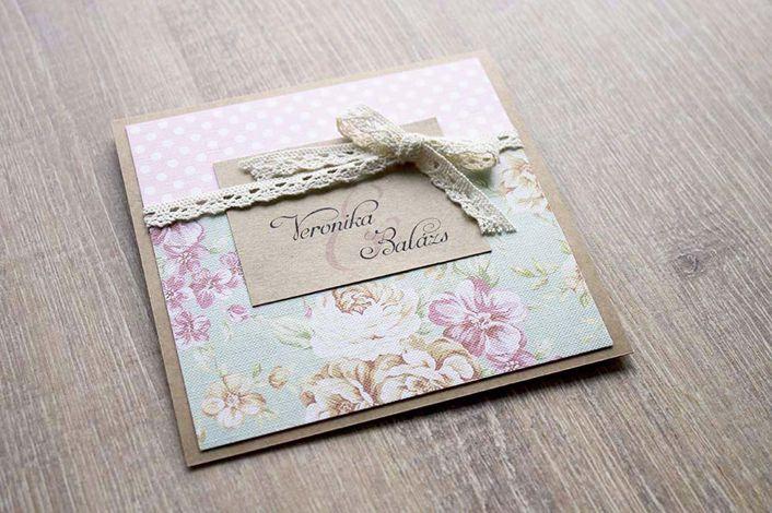 flocked wedding invitation, wedding invitation with vintage roses, wedding invitation with lace, rustic wedding invitation