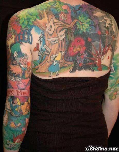 www.tattoo-tatwe.com Tatouage du jour : Alice aux pays des merveilles ...