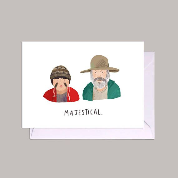 Hunt for the Wilderpeople Majestical Ricky Baker and Heck illustration