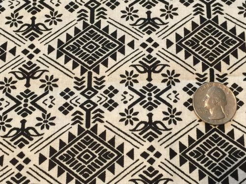BIN-Fabric-African-Damask-Tribal-Black-on-White-Cotton-1-4-yard