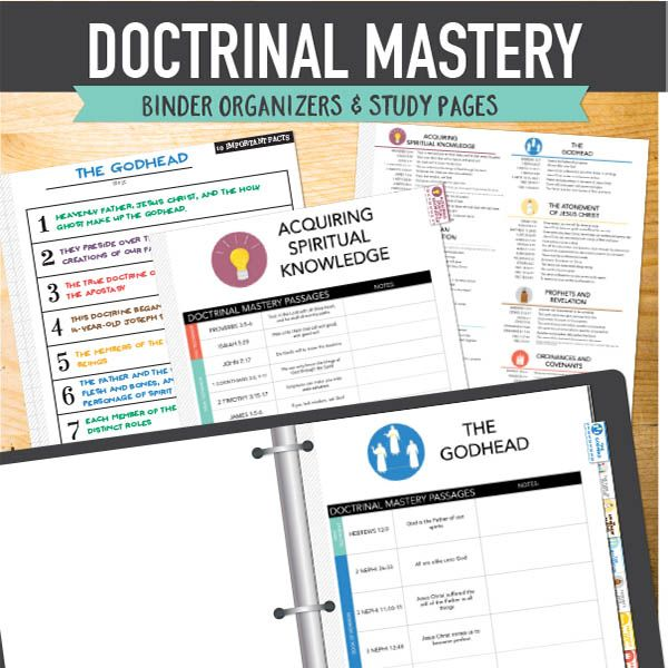Doctrinal Mastery Seminary Helps - printable doctrinal mastery binder kit.  www.theredheadedhostess.com